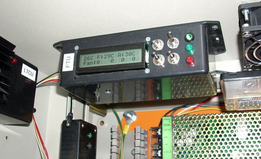 Fan controller with LCD — AVR powered