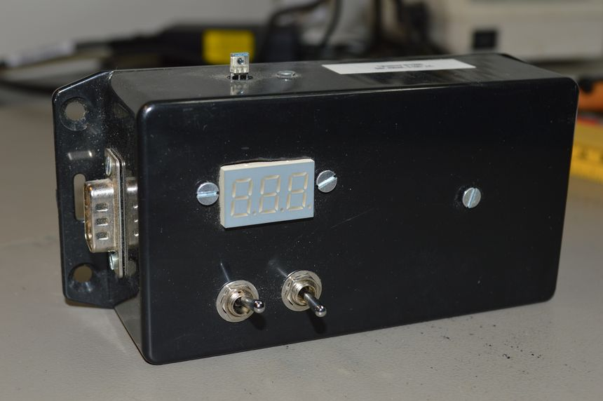 Light sensor with LED display, AVR controlled
