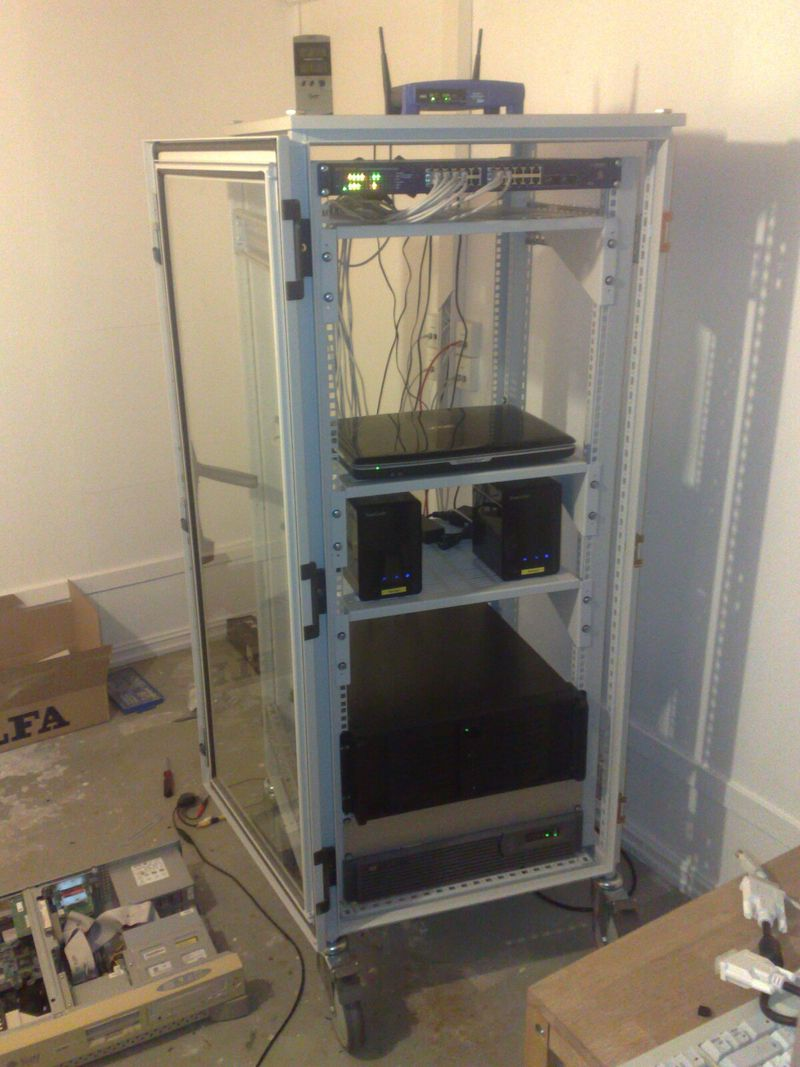 Sever rack with little equipment