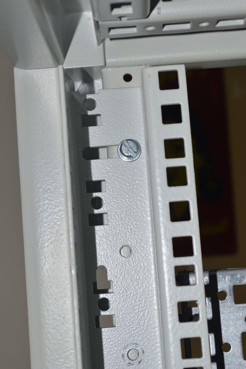 Rack rail mounted on rack