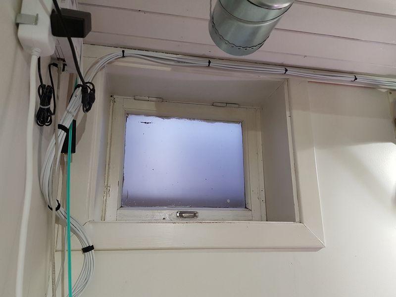 Office window, seen from the inside
