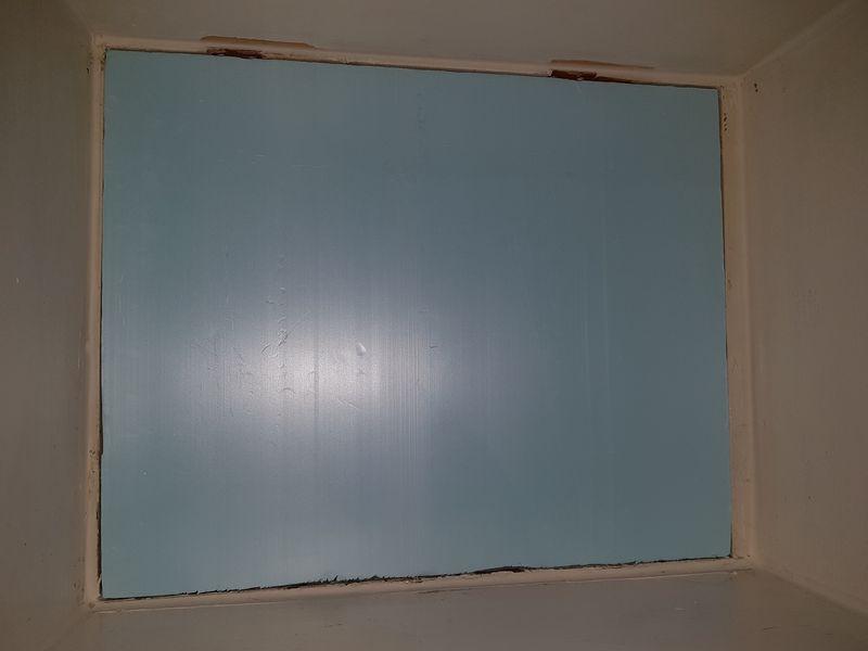 Styrofoam insulation in window opening