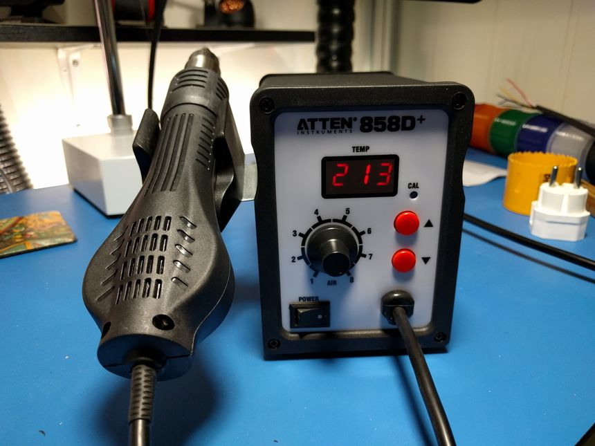 Finding earth leakage on ATTEN 858D hot air gun